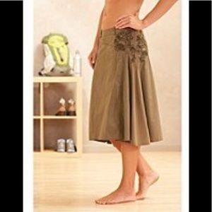 Athleta yoga skirt army green floral skirt